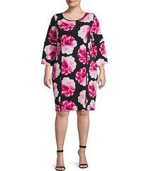 plus floral shift dress