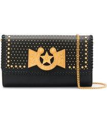 versace icon western crossbody bag - black