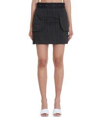 neil barrett skirt in black viscose