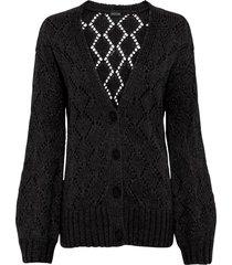 cardigan in maglia traforata (nero) - bodyflirt