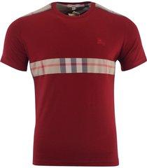 burberry brit men's patch nova check short sleeve t-shirt red - s, m, l, xl