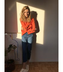sweater naranja system buttons covent