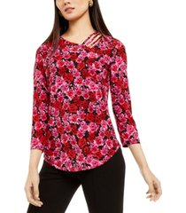 inc strappy floral-print top, created for macy's