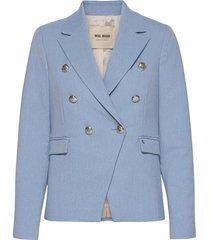 beliz twiggy blazer sustainable blazers casual blazers blauw mos mosh