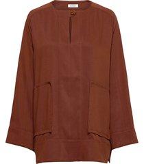 rodebjer maziel blouse lange mouwen bruin rodebjer