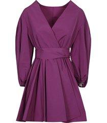 valentino v-neck short wrap dress