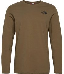 m l/s easy tee t-shirts long-sleeved grön the north face
