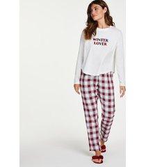 hunkemöller pyjamasset röd