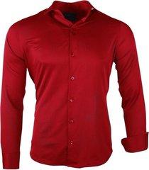 ferlucci heren overhemd napoli slim fit stretch -