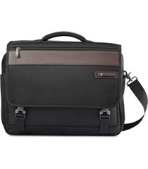 samsonite men's kombi flap briefcase