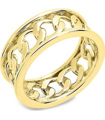 sterling forever women's 14k gold vermeil curb chain band ring/size 9 - size 9