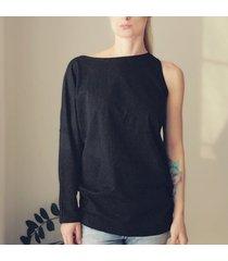 bluzka jedno ramię czarna