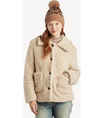 sanctuary women's teddy coat in color: moonstone size xs from sole society