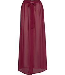 sheer wrap skirt beach wear röd hunkemöller