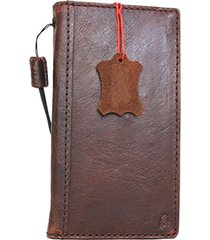 genuine real leather case for google pixel 2 book cards wallet cover brown slim