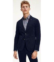 tommy hilfiger men's flex slim fit blazer navy blazer - 46