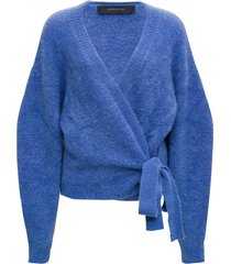 federica tosi bluette mohair blend cardigan with bow