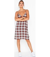 cheap monday rite dress relax check loose fit dresses