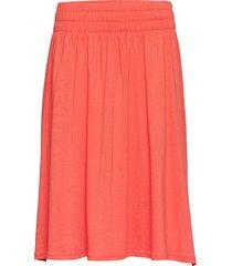 jenni jersey skirt knälång kjol orange lexington clothing