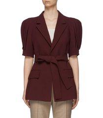'marcos' puff shoulder belted jacket