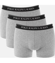 polo ralph lauren men's 3 pack classic trunk boxers - andover heather - xl