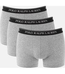 polo ralph lauren men's 3 pack classic trunk boxers - andover heather - s
