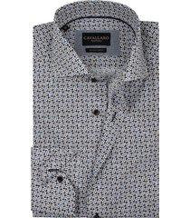 cavallaro shirt mouwlengte 7 navy wit