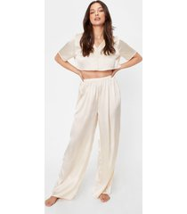 womens dream a little dream shirt and pants pajama set - champagne