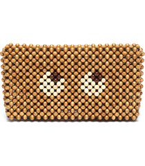 'eyes' beaded clutch