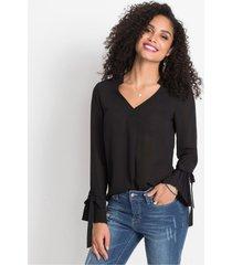 blouse met plissé detail