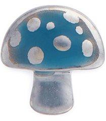 18k white gold enamelled mushroom charm