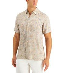 tasso elba men's doccia medallion shirt, created for macy's