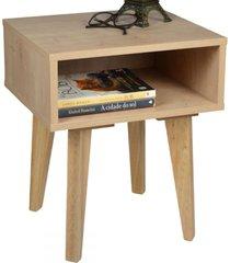 mesa de canto azaléia 1 nicho madeirada - falkk