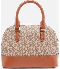 dkny women's bryant park dome satchel - chino/caramel