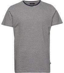 majermane campaign stripe melange t-shirts short-sleeved blå matinique