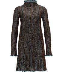 corteccia flared dress in lurex knit