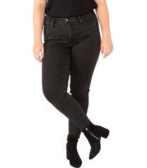 plus size women's silver jeans co. high note high waist skinny jeans, size 24w - black