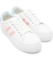 tenis fashion franjas rosa color blanco, talla 36
