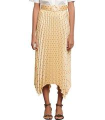 women's sandro polka dot pleat skirt