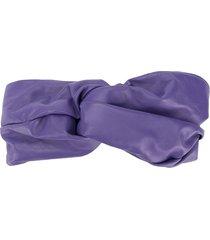manokhi twisted front headband - purple