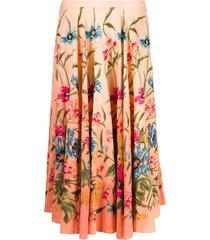 a.n.g.e.l.o. vintage cult 2000s floral print skirt - orange