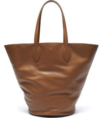 'osa' medium circlular leather tote