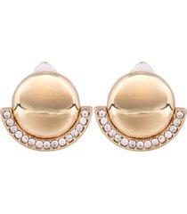 t tahari button clip earring
