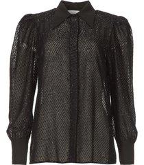 blouse met lurex details legitim  zwart