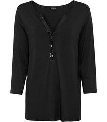 maglia con paillettes (nero) - bodyflirt