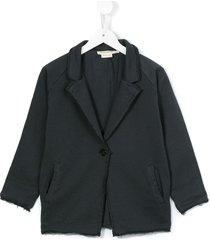 andorine frayed-hem single breasted blazer - grey