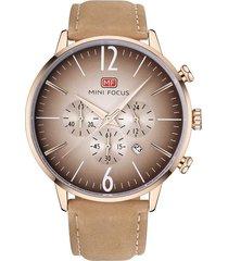 reloj análogo f0114gl-2 hombre beige