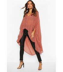 oversized dobby chiffon maxi blouse, rose