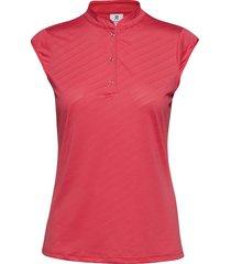 lorin cap/s polo shirt t-shirts & tops polos röd daily sports