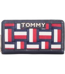 tommy hilfiger brooke woven novelty zip wallet